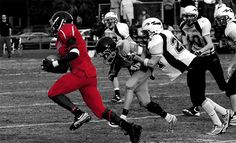 Homecoming Football by Christian Steinmetz in Impressive Black & White Photography with a Touch of Color