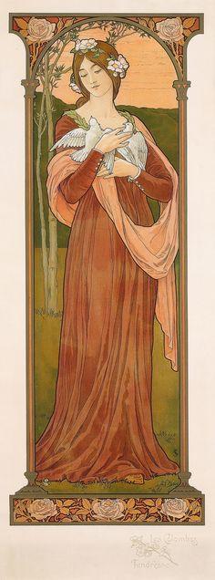 "Elisabeth Sonrel (French, 1874 - 1953), ""Les Colombes; Tendresse"", (""Tender Doves"")"
