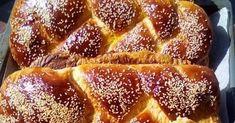 Από τα ωραιότερα αφράτα όλο ίνες νηστίσιμα τσουρέκια!!!   ΓΙΑ ΤΟ ΠΡΟΖΎΜΙ:  Βάζουμε στο μπολ 50 γραμμάρια μαγιά νωπή ,2 κουταλιές της σού... Dessert Recipes, Desserts, French Toast, Sweets, Breakfast, Food, Recipes, Morning Coffee, Deserts
