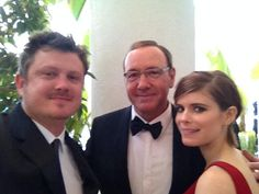 Beau Willimon, Kevin Spacey & Kate Mara :)  #goldenglobes
