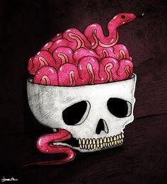 snake brain by berkozturk.deviantart.com on @deviantART