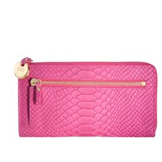 Finally, the ultimate woman's wallet with an internal pocket for your phone, six credit card slots, note pockets and an external zip pocket for coins. There is even space for your lipstick and keys. Designed and produced in New York and made from full-grain embossed Python Leather. The perfect gift for her and luxury fashion accessory.  Expect to Pay:  £130.00