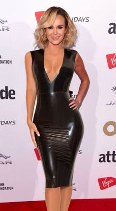 Tv presenter and talent show judge Amanda Holden wows fans in a skintight latex dress at the London Attitude awards 2017 Amanda Holden in Latex Latex Wear, Latex Dress, Sexy Latex, Tight Dresses, Sexy Dresses, Looks Pinterest, Amanda Holden, Elegantes Outfit, Latex Girls