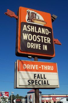 A & W Drive In, Ashland, Ohio Jon and I would stop on the first/last day of school to celebrate with rootbeer floats.