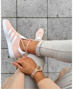 Adidas Originals Gazelle Pink White Gold Trainer