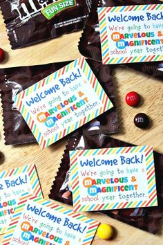 Student Welcome Gift {Free Printable} - My new favorite printable! Download free at Happy Go Lucky
