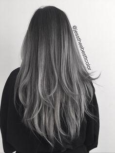 Grey balayage image 3980588 by tschissl on favim hair Cheveux Tye And Dye, Grey Balayage, Dye My Hair, Ombre Hair Color, Hair Colour, Hair Images, Pretty Hairstyles, Pink Hairstyles, Hair Looks