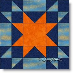 "AMISH STAR free quilt block pattern. This six patch is available in 15"" quilt block, 12"" quilt block, 9"" quilt block, 6"" quilt block"