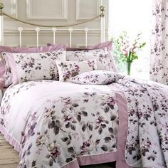 Pink Layla Collection Oxford Duvet Set | Dunelm