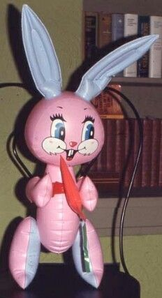 OMG I remember I had this too! Vintage blow up easter bunny. My mom got me one of these once. I remember these has pretty sharp seams. 90s Childhood, My Childhood Memories, Sweet Memories, School Memories, Retro Toys, Vintage Toys 80s, 1970s Toys, Vintage Barbie Clothes, 80s Kids