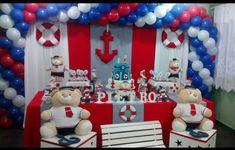 Daqui há alguns meses meu pequeno vai completar 2 aninhos (nossa como passou rápido!), por isso, já estou pensando como vamos comemorar o aniversário dele e, se tiver festa, qual tema escolher. Mas, qual tema de festa de menino escolher? Aproveitei para fazer esse post com algumas sugestões para inspirar vocês, queridas leitoras! Qual tema … Continue lendo Para inspirar: 10 temas para festa de menino → Sailor Birthday, Sailor Party, Nautical Mickey, Nautical Party, Military Send Off Party Ideas, Festa Monster Truck, Sailor Baby Showers, 1st Birthdays, Birthday Photos