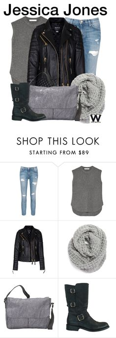 """Jessica Jones"" by wearwhatyouwatch ❤ liked on Polyvore featuring Current/Elliott, Alexander Wang, Halogen, LeSportsac, Frye, women's clothing, women's fashion, women, female and woman"