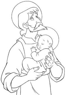 Link to St. Joseph Printable Coloring Book. $2 download for 17 pages that cover his life, drawn by former Disney animators.