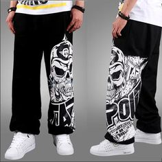 Wholesale Pants - Buy New Hot Hip-hop Sweat Pants Skull Print Dance Athletic Sporty Casual Hip Hop Dance Trousers Slacks Joggers Sweat Pants Casual Dress for Men, $17.93 | DHgate