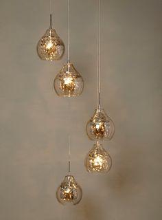 Gold Azalea 5 Light Cluster Pendant - Ceiling Lights - Home, Lighting & Furniture