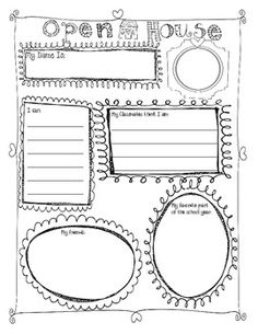 Great for an Open House bulletin board display or for an Open House class book. Easy, Impressive, great overview for parents, simple student self-assessment. Open House Activities, Back To School Activities, Teacher Morale, Teacher Conferences, Back To School Night, School Fun, School Ideas, School Stuff, Open House Night