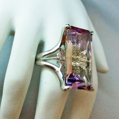 18ct Ametrine and Diamond Cocktail Ring in Sterling by DeLunaGems, $999.00
