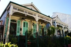 Southern homes in New Orleans, USA