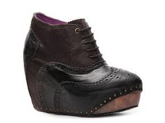 Irregular Choice What An Angel Leather Bootie #boots #black $139.95