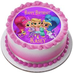 Shimmer And Shine 2 Edible Birthday Cake Topper OR Cupcake Decor