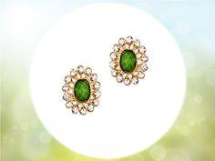#emraldgreen #crystalstud #crystalsearrings #fashionaccessories