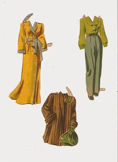 COVER GIRLS Partial Set Merrill, 1944 CLOTHES 4 of 6