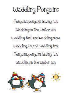The Very Busy Kindergarten: Penguin Poems | Classroom Favorites ...