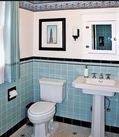 Bon Circa 1930u0027s Powder Room White Bathroom, 1950s Bathroom, Classic Bathroom,  Vintage Bathrooms,