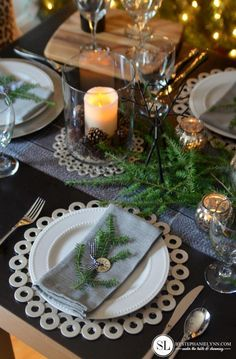 Love this !  Washers for your holiday table.