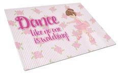Ballet Dance Brunette Glass Cutting Board Large BB5390LCB