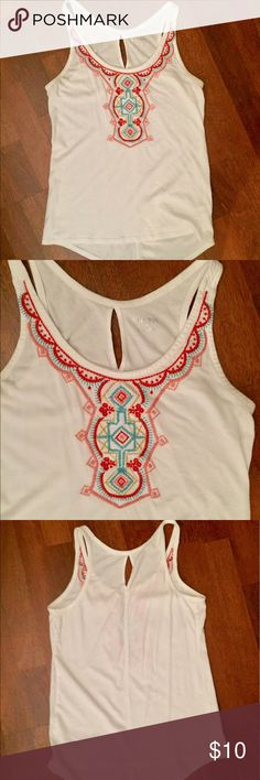 Summer tank Tribal print tank with straight front and scooped back hem. Flattering fit!! Merona Tops Tank Tops