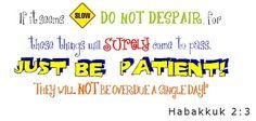 Journey of Faith: Habakkuk 2:3