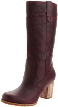 606b8d54f63 Timberland Women s Boots Rudston Burgundy Weather Proof Pull On NEW Tall
