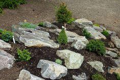 Landscaping With Boulders | River Rock Garden Ideas Photograph | Rock-Garden-Landscaping