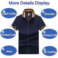 ee3dc4e8b000d Mens Stylish Polo Shirt Printed Collar Short Sleeve Spring Summer Casual  Tops Sales on NewChic Mobile