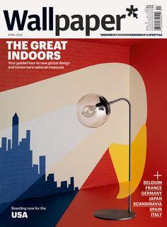 Серия от осем уникални корици на известния дизайнер Нома Бар за априлския брой на списание Wallpaper.
