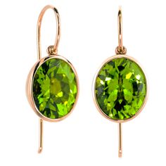 1stdibs.com | Peridot Princess Bowl Earrings