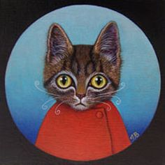 Little kitty's red sweater! - Isabelle Bryer