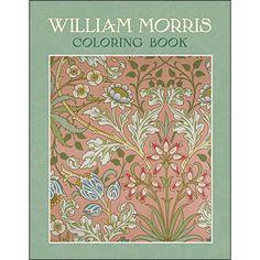 This William Morris coloring book features 22 arts & crafts wallpaper…