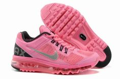 premium selection 3c71e dd486 Baskets Running Nike Air Max 2013 Femme Rose Argent Noir (RG12)