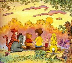 Ideas For Children Illustration Bear Winnie The Pooh Cute Winnie The Pooh, Winne The Pooh, Winnie The Pooh Quotes, Winnie The Pooh Friends, Winnie The Pooh Pictures, Eeyore, Tigger, Lilo Et Stitch, Hundred Acre Woods