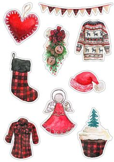 Christmas Clipart, Christmas Tag, Christmas Printables, Christmas And New Year, Christmas Themes, Vintage Christmas, Christmas Crafts, Xmas, Journal Stickers