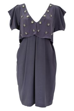 Swarovski and Pearl Slate Evening Dress