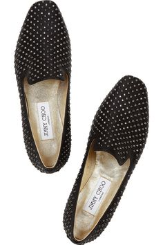 Jimmy Choo | Wheel studded leather loafers |