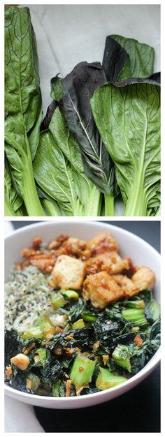 Vegan Maple Glazed Tofu, Bok Choy & Ramen Noodle Bowl // apolloandluna.com