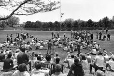 On May 6, 1970, two days after members of the Ohio National Guard fired on unarmed Kent State students, killing four and wounding nine others, University of Nebraska at Omaha students gathered in a forum at the Pep Bowl. There, the approximately 600 students discussed the violence at Kent State and the fighting in Cambodia. However, disagreement about whether the flag should be lowered to half-staff nearly caused a fight to break out. THE WORLD-HERALD