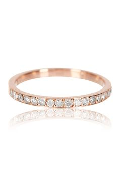 The Simple Pave Band 14K Rose Gold- Après Jewelry The Band