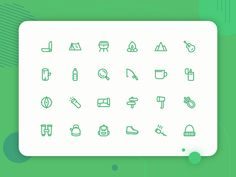 Camping icon set new by Muhammad Tajudin Camping Icons, Create Icon, Weather Icons, Social Media Icons, Muhammad, Icon Set, Icon Design, Illustration, Artwork