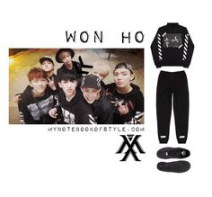 """""""Inspired by Won Ho in Monsta X's Trespass MV"""" by yooane ❤ liked on Polyvore featuring NIKE, kpopoutfit, inspiredbyoutfit, monstax and wonho"""