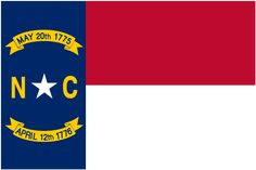 "Illustration: state flag of North Carolina. Source: Wikimedia Commons. Read more on the GenealogyBank blog: ""North Carolina Archives: 169 Newspapers for Genealogy Research."" http://blog.genealogybank.com/north-carolina-archives-169-newspapers-for-genealogy-research.html"